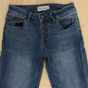 DL 1961 cropped flare jeans
